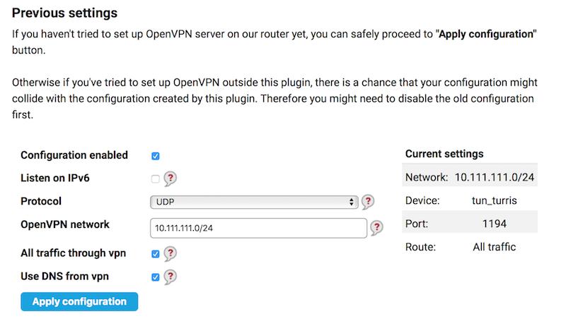 OpenVPN with Tunnelblick client on Mac - SW help - Turris forum