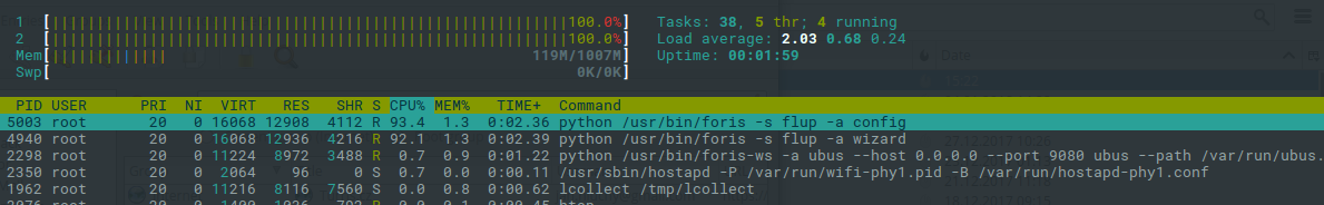 Forris error 500, high CPU utilization - SW help - Turris forum
